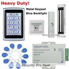 125KHz RFID Card +Password Door Access Control+ Electromagnetic Lock+Exit Button