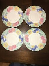 Set of 4 Sango Passion 91 4805 Dinner Plates - Oven, Dishwasher, Microwave Safe