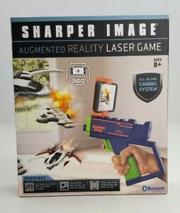 Sharper Image Augmented Reality Laser Game Gun Bluetooth 360 views Ages 8 +