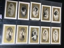 More details for partagas cigar cards x 20 - beauties / actresses ? vg