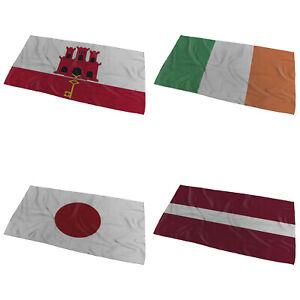 World Flags Wavy Design Bath / Beach Towel ( Variation 3 ) - Large