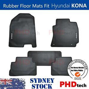 Premium Quality All Weather Rubber Floor Mats to fit HYUNDAI KONA 3Colours NO EV