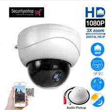 Outdoor HD 1080P 3X Optical Zoom Network IP Camera CCTV Dome PTZ IR Night Audio