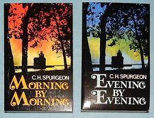 Set of Morning & Evening Devotion Paperbacks by C.H. Spurgeon - New