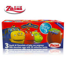 [ZAINI] CHUGGINGTON Milk Chocolate Egg Collectible Toys Inside 3 Eggs ITALY NEW