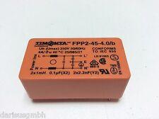 1 PC. timonta fpp2-45-4.0/b RETE FILTRO entstörfilter 2x1mh 0,1uf (x2) 2x2,2nf (y2)