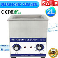2L Stainless Ultrasonic Cleaner Ultra Sonic Bath Cleaning Tank Heater Timer 60W