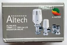 Altech Thermostatic Radiator Valve and lockshield - ALTRLS15 - Free post