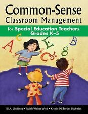 Common-Sense Classroom Management for Special Education Teachers Grade-ExLibrary