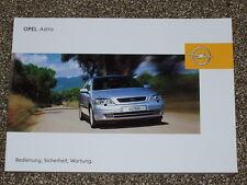 Bedienungsanleitung Opel Astra G incl. Cabrio, Ausgabe 04/2003 (neu) #baas0403