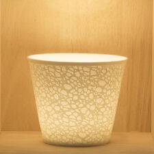 Tea Light/Tealight Holder ~ Nordic Lights ~ CRACKLE (24) ~ Ceramic/Porcelain
