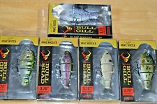 """5 lures Catch co mike bucca baby bull gill shad swimbait 3.75"""" sink assortment 2"""