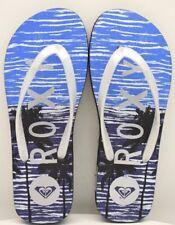 Roxy Flip Flops Blue Silver / Black Purple US Size 6 - FREE SHIPPING - BRAND NEW