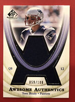 2004 Upper Deck SP Tom Brady Awesome Authentics Game Used Jersey Card 59/100!