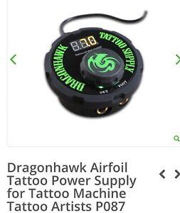 New! Dragonhawk Airfoil Tattoo Power Supply - No Box! No Cord! New ITEM UNUSED!