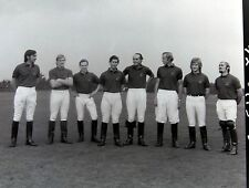 Authentic vintage photo negative Price Charles Polo team black white picture
