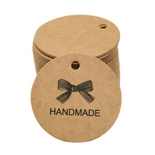 100x Kraft Paper HANDMADE Gift Tags Rustic Wedding Favor Tag Label