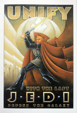 STAR WARS REPRO FILM MOVIE POSTER . UNIFY WITH THE LAST JEDI . NOT DVD