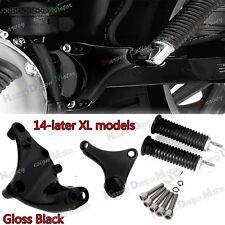 Gloss Black Rear Passenger FootPegs Mount Kit For Harley Iron 883 2014-2017