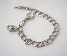 NWOT Fossil Link Chain Charm Bracelet (Silver)