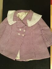 Doll Terri Lee Clothing Purple Checked Coat with detachable collar tagged 1950's