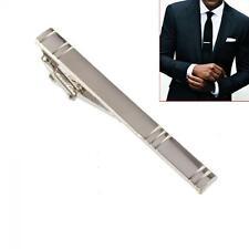 Bar Metal Silver Clasp Necktie Clips Tie Pins