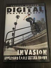 DIGITAL SKATEBOARDING VIDEO #8 INVASION VERY GOOD DVD 2002 ANDREW REYNOLDS SKATE