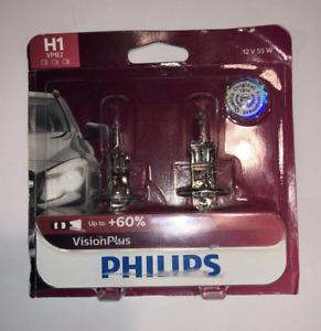 Headlight Bulb-VisionPlus - Twin Blister Pack Philips H1VPB2