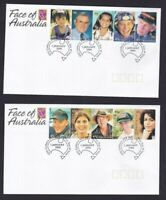 AFD1399) Australia 2000 Faces of Australia FDC 5 covers