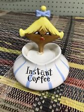 HOLT HOWARD PIXIE WARE INSTANT COFFEE CONDIMENT JAR W/ SPOON