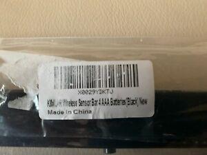 Wireless Sensor Bar Fit for Nintendo Wii & Wii U - Black (Third Party Made)