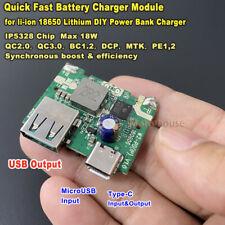 QC3.0 Mini USB-C Lithium Li-ion Battery Fast Charging Charger Module Power Bank
