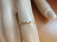 18KT SOLID GOLD DIAMOND STACK RING SZ/7
