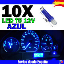 10x Bombillas T5 LED F3 1SMD 12V 1W 50000h Azul Electrico Cuentakilometros