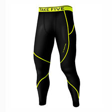 Take Five Mens Skin Tight Compression Base Layer Running Pants Leggings NT507