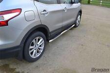 Per adattarsi 2014+ Nissan Qashqai in Acciaio Inox Barre Laterali Gonne passi PASTIGLIE TUBI