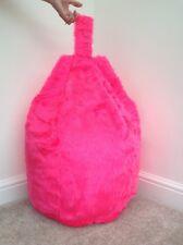Bean Bag Filled Shocking pink Faux Fur 3 cubic feet Size Children Bean Bag New