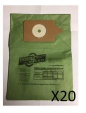 20 X Sac à Poussière D'Aspirateur pour Numatic Henry Hoover HVR200A NVM1B &