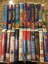 Disney Masterpiece Original VHS Collection Mermaid Cinderella Beauty & Beast