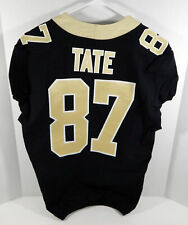 2018 New Orleans Saints Brandon Tate #87 Game Issued Black Jersey Benson Patch