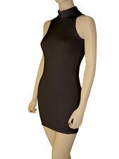 Cotton Spandex Sleeveless Turtleneck Mini Dress
