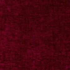 Plush Chenille Upholstery Fabric Red Scarlet / Begonia