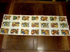 "VINTAGE 13"" X 40"" Cotton Fabric TABLE RUNNER Mexican SOMBRERO Cactus ART POTTERY"