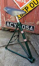 Handmade Upcycled Bicycle Bar Stool, Vintage Racing Bike,Leather Seat,Industrial
