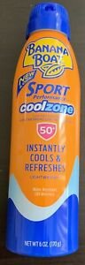 New Banana Boat Cool Zone Clear Sunscreen Spray SPF 50+6 Oz EA