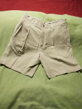 TOMMY BAHAMA 100% SILK Pleated Shorts Men's Size 34 Light Tan Excellent Cond.
