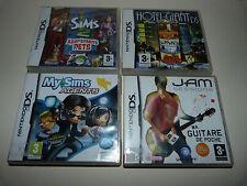 My Sims Agents + Les Sims 2 + Hotel Giant + Jam Sess. Lot 4 jeux NINTENDO DS 3DS