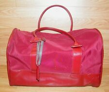 "Estee Lauder ""18  x ""9 x ""10 Burgundy Large Travel Duffle Bag Only **READ**"
