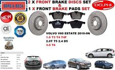 FOR VOLVO V60 1.6 2.0 2.4 3.0 ESTATE FRONT BRAKE DISCS SET + BRAKE PADS KIT