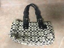 Coach 11863 Canvas & Leather Tote Shopper Bag Purse Black (CON18)